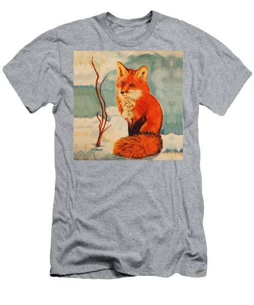 Foxy Presence Throw Pillow Men's T-Shirt (Athletic Fit)