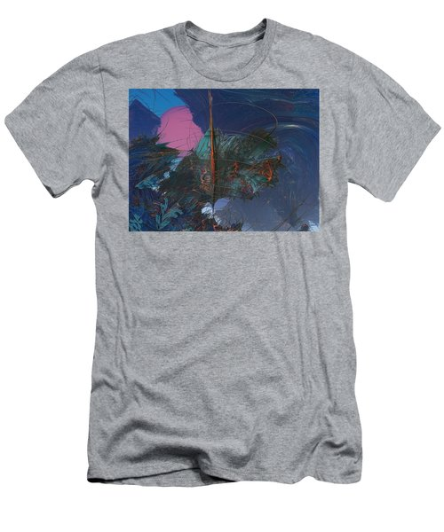 Fractal Sunset Men's T-Shirt (Athletic Fit)