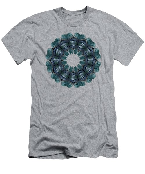 Fractal Wreath-32 Teal T-shirt Men's T-Shirt (Athletic Fit)