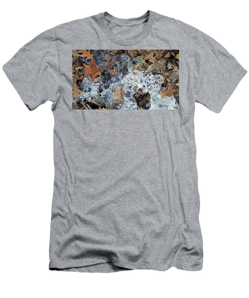 Fractured Ice Among Fall Leaves Men's T-Shirt (Athletic Fit)