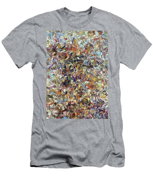 Men's T-Shirt (Slim Fit) featuring the painting Fragmented Horse by James W Johnson