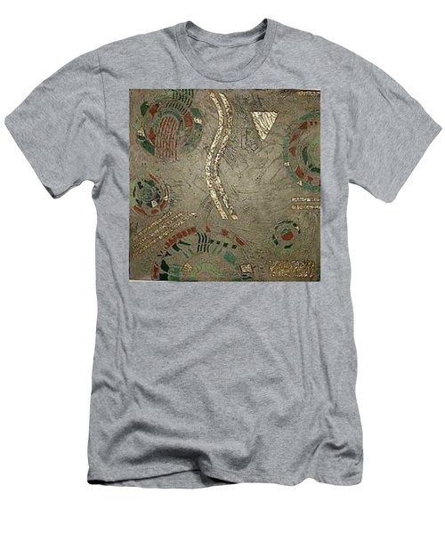 Men's T-Shirt (Slim Fit) featuring the painting Fragments From Atlantis by Bernard Goodman