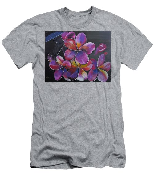 Men's T-Shirt (Athletic Fit) featuring the pastel Frangipani  by Richard Le Page