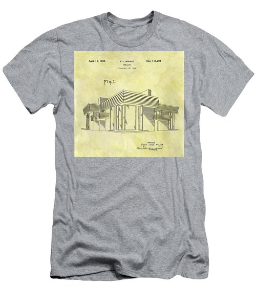 Frank Lloyd Wright House Patent Men's T-Shirt (Athletic Fit)