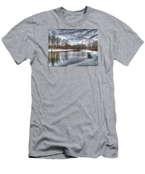 Men's T-Shirt (Slim Fit) featuring the photograph Freezing Up by Betsy Zimmerli