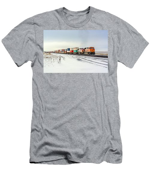 Freight Train Men's T-Shirt (Athletic Fit)