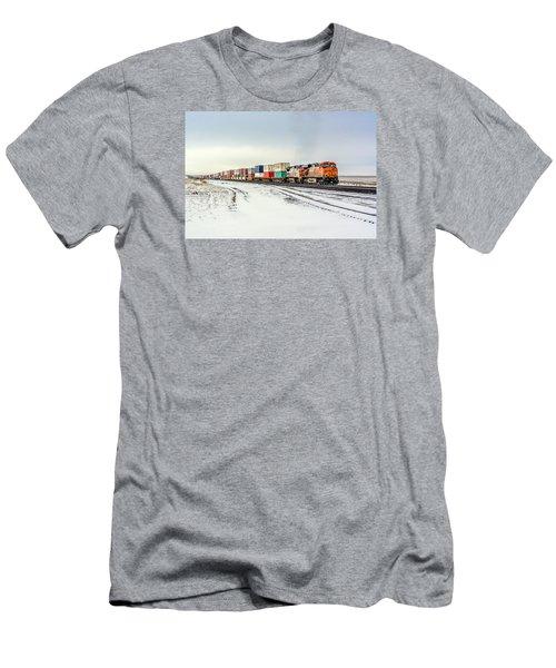 Freight Train Men's T-Shirt (Athletic Fit)