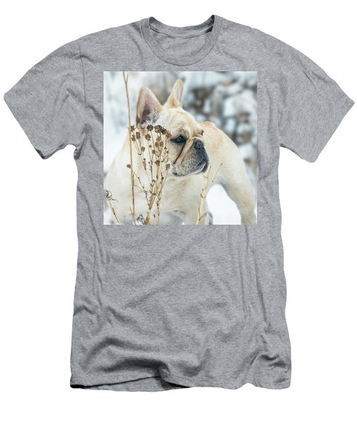 French Bulldog In The Snow Men's T-Shirt (Athletic Fit)