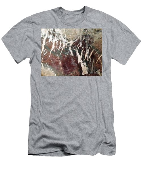 French Marble Men's T-Shirt (Slim Fit) by Therese Alcorn