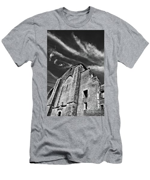 Men's T-Shirt (Athletic Fit) featuring the photograph French Middle Age Kisses The Dark Sky by Silva Wischeropp