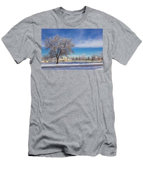 Fresh Spring Snow - City Park, Denver, Colorado Men's T-Shirt (Athletic Fit)