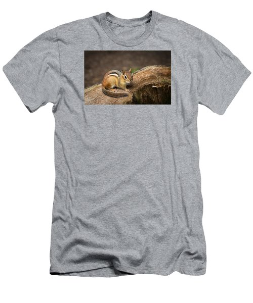 Friendly Chipmunk Men's T-Shirt (Slim Fit)