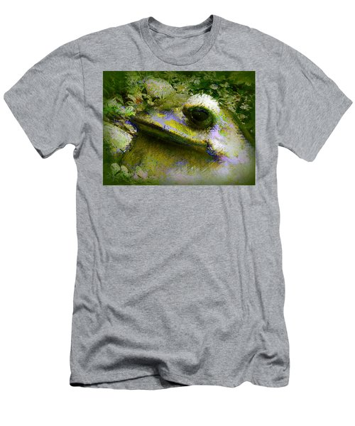 Men's T-Shirt (Slim Fit) featuring the photograph Frog In The Pond by Lori Seaman