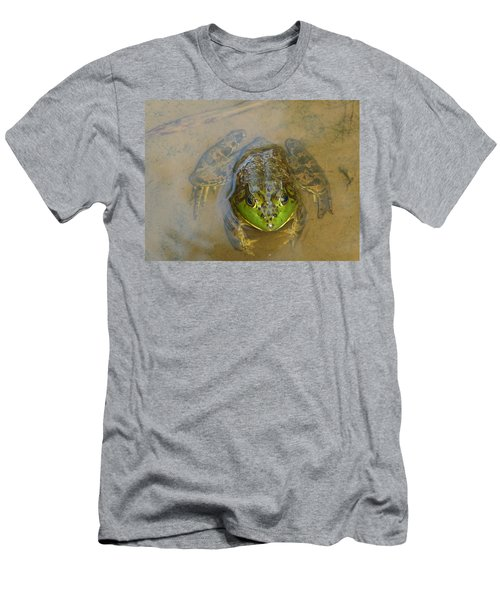 Men's T-Shirt (Slim Fit) featuring the photograph Frog Of Lake Redman by Donald C Morgan