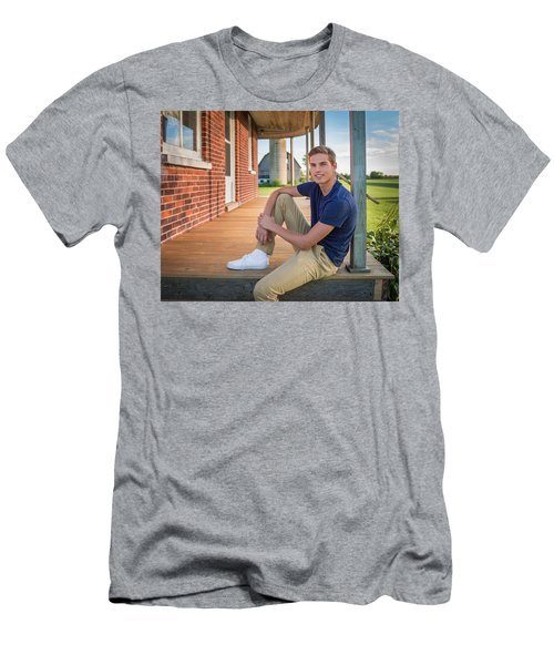 Men's T-Shirt (Athletic Fit) featuring the photograph Front Porch Portrait by Bill Pevlor