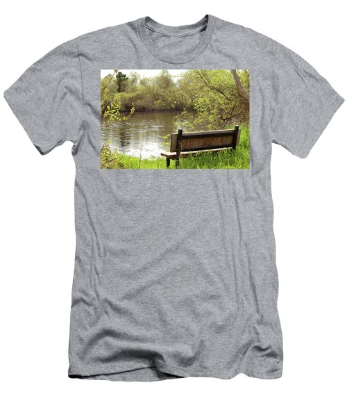 Men's T-Shirt (Slim Fit) featuring the photograph Front Row Seat by Art Block Collections