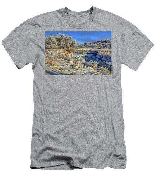Frost Along The Creek Men's T-Shirt (Athletic Fit)