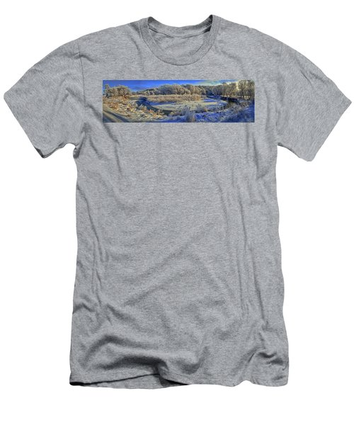 Frost Along The Creek - Panorama Men's T-Shirt (Athletic Fit)