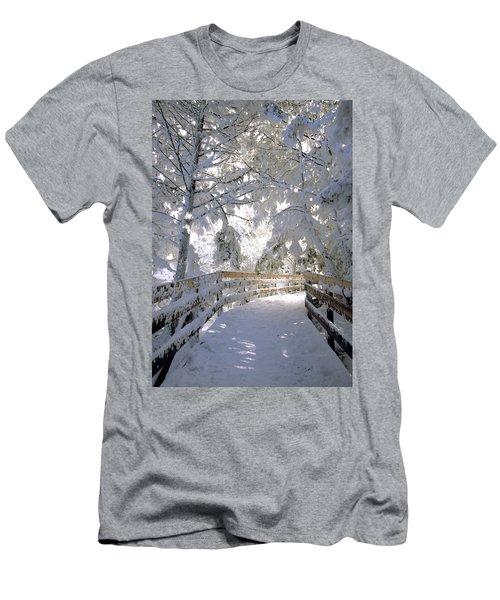 Frosty Boardwalk Men's T-Shirt (Athletic Fit)