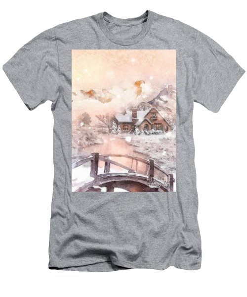 Frosty Creek Men's T-Shirt (Slim Fit) by Mo T