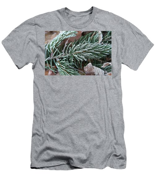 Frosty Pine Branch Men's T-Shirt (Athletic Fit)