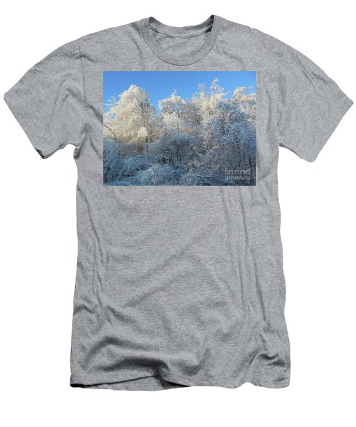 Frosty Trees Men's T-Shirt (Athletic Fit)