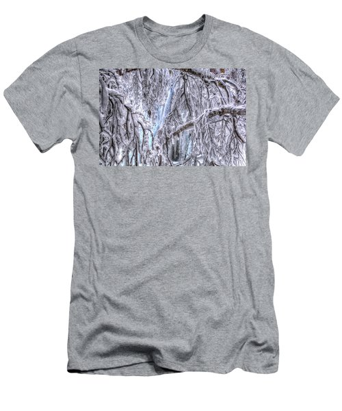 Frozen Falls Men's T-Shirt (Slim Fit) by Fiskr Larsen