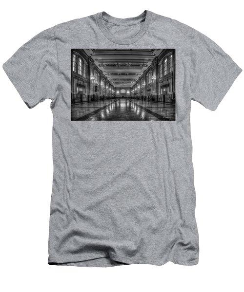 Frozen In Time B W Union Station Kansas City Missouri Art Men's T-Shirt (Athletic Fit)