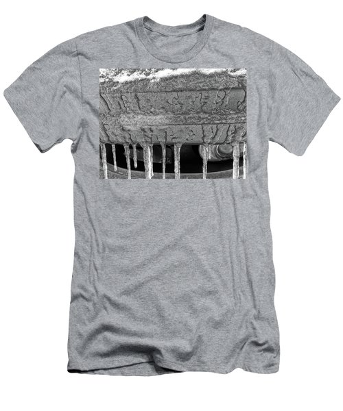 Men's T-Shirt (Athletic Fit) featuring the photograph Frozen Road Warrior by Robert Knight