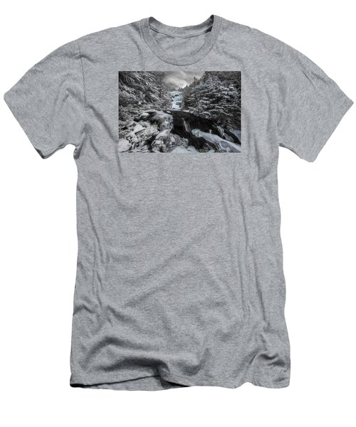 Frozen Water In Ammo Ravine Men's T-Shirt (Athletic Fit)