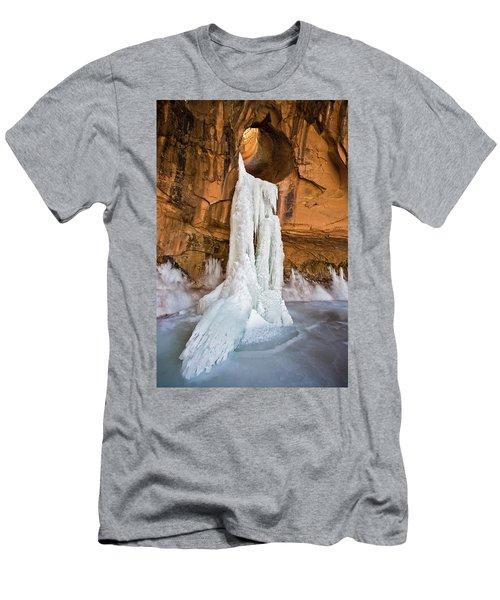 Frozen Waterfall Men's T-Shirt (Athletic Fit)