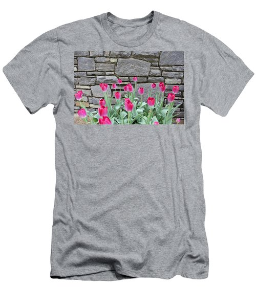 Fuchsia Color Tulips Men's T-Shirt (Athletic Fit)