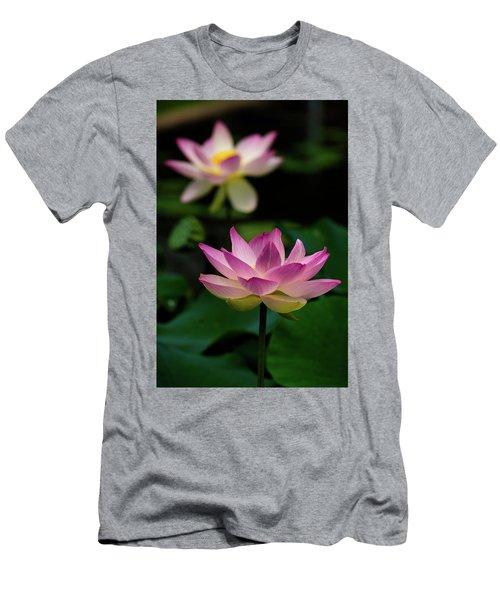 Full Blooming Dual Lotus Lilies Men's T-Shirt (Athletic Fit)
