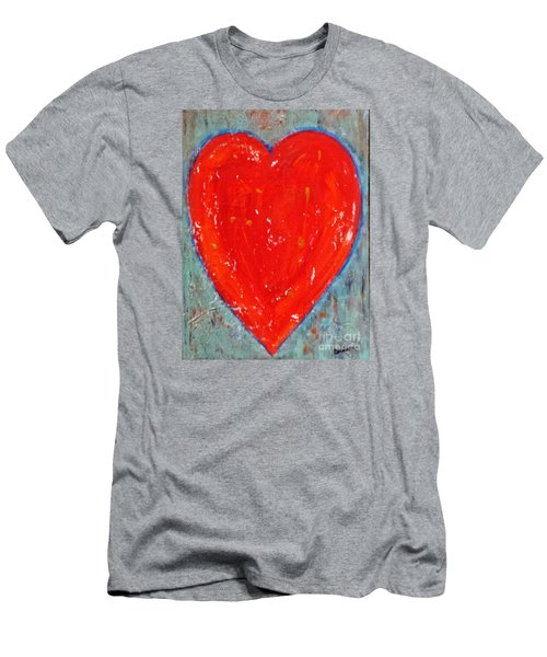 Men's T-Shirt (Slim Fit) featuring the painting Full Heart by Diana Bursztein