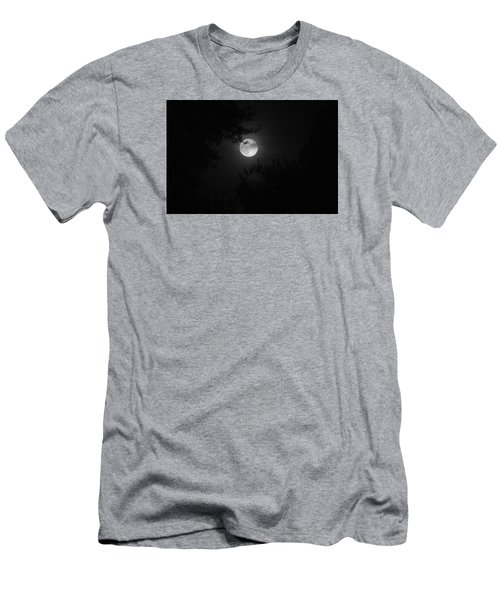 Full Moon With Branches Men's T-Shirt (Athletic Fit)
