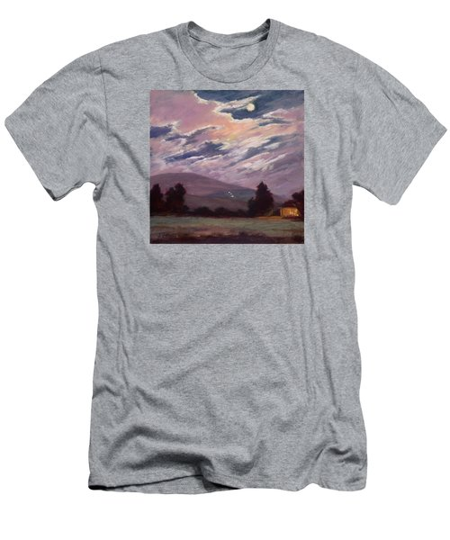 Full Moon With Clouds Men's T-Shirt (Slim Fit) by Jane Thorpe