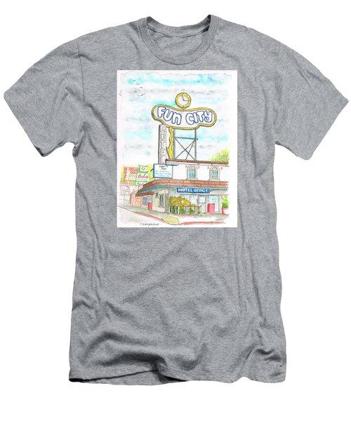 Fun City Motel, Las Vegas, Nevada Men's T-Shirt (Slim Fit) by Carlos G Groppa
