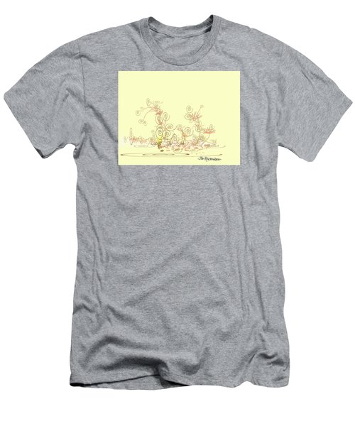 Men's T-Shirt (Slim Fit) featuring the drawing Fun by Jim Hubbard