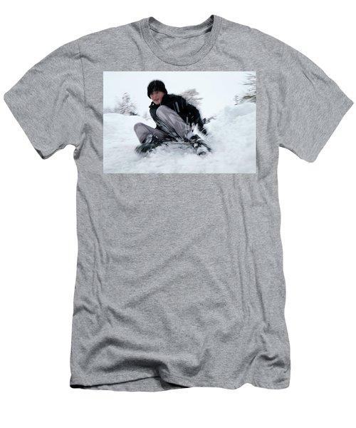 Fun On Snow-4 Men's T-Shirt (Athletic Fit)