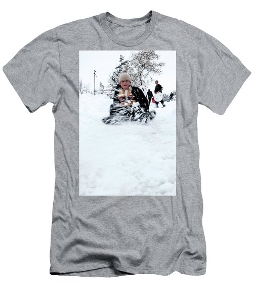 Fun On Snow-5 Men's T-Shirt (Athletic Fit)