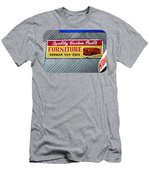 Men's T-Shirt (Slim Fit) featuring the photograph Furniture Sign by Ethna Gillespie