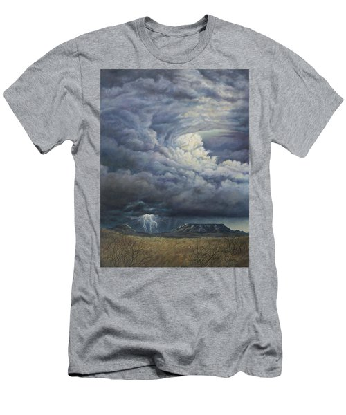 Fury Over Square Butte Men's T-Shirt (Slim Fit) by Kim Lockman