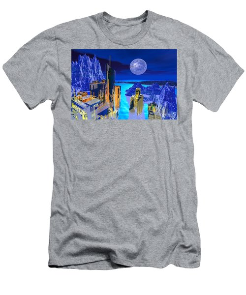 Futuristic City Men's T-Shirt (Athletic Fit)