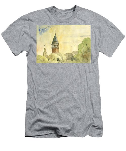Galata Tower Istanbul Men's T-Shirt (Athletic Fit)