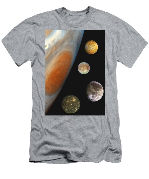 Galilean Moons Of Jupiter Men's T-Shirt (Athletic Fit)