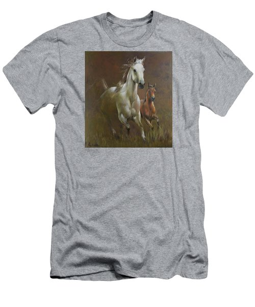 Gallop In The Eyelash Of The Morning Men's T-Shirt (Slim Fit) by Vali Irina Ciobanu