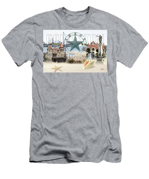 Galveston Texas Men's T-Shirt (Athletic Fit)