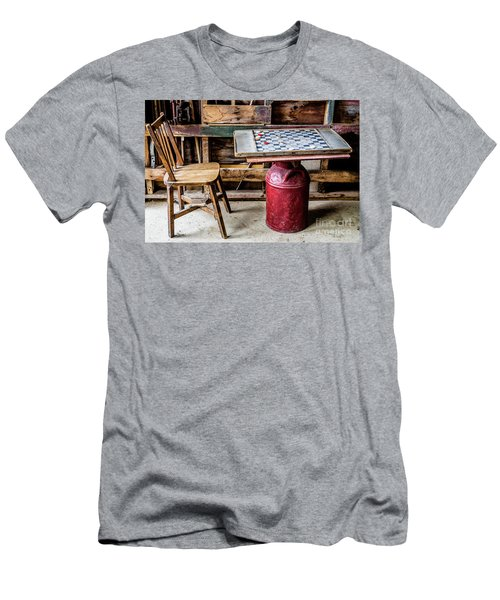 Game Of Checkers Men's T-Shirt (Slim Fit) by M G Whittingham