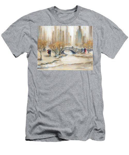 Gapstow Bridge And Lovers Men's T-Shirt (Athletic Fit)