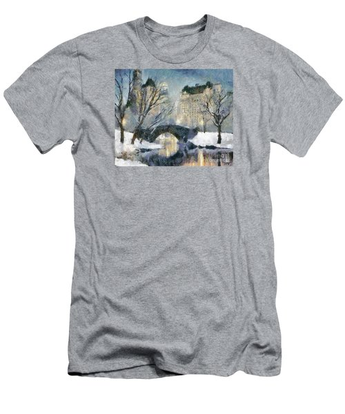 Gapstow Bridge In Snow Men's T-Shirt (Athletic Fit)